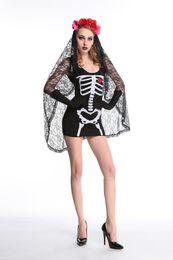 Wholesale Ghost Suit - Halloween adult vampire role-playing Cosplay costume ghost bride suits skeleton demon costum