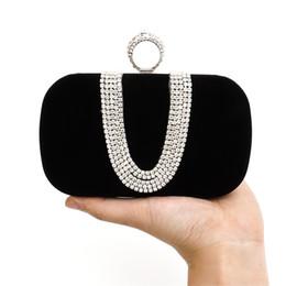 Wholesale Solid Color Clutch Bags - 2016 Rhinestones Clutch 2 Color Bag Bolsas Clutches Top Quality Crystal Evening bags Purse Handbag Bridal Wedding Dress