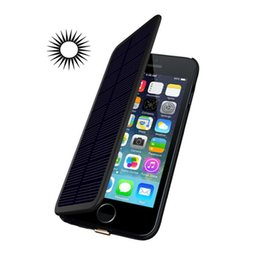 Wholesale Battery Powered Cell Phone Case - 2800mAh Rechargeable Power Battery Solar Powered Backup Battery Case for iPhone 6 6S 4.7inch Cell Phone Power Case