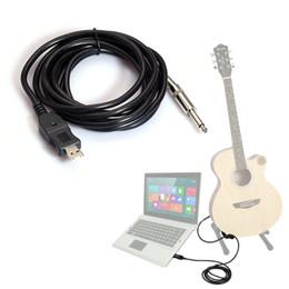 Canada 2015 vente chaude livraison gratuite en gros 1 PC 3 M guitare à PC USB câble d'enregistrement adaptateur de plomb convertisseur interface de connexion Offre