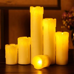 Wholesale Flameless Votive Candle - Flameless votive Candles Battery Operated Lights Simulation Flame Flashing Candle Lamp halloween Valentine's Day Party wedding Decoration