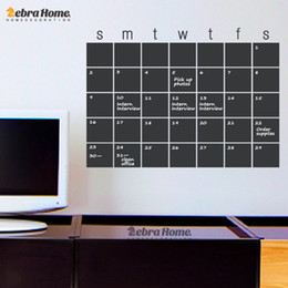 Wholesale Sticker For Toilet - DIY Calendar Chalkboard Month Planner Creative Whiteboard Wall Stickers Modern Art Blackboard Murals Wallpaper Home Decor