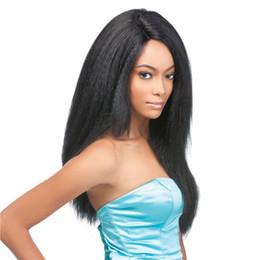 Wholesale Long Realistic Wigs - Hot Sale Long Wigs for Black Women Black Hair Cheap Female Realistic Cute Wigs Heat Resistant Cheap Hair For Women Sale