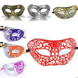 Wholesale Masquerade Mask Knight - Masquerade Masks Halloween Christmas Fancy Dress Plastic Half Face Party Mask Knight Prince Masks Mardi Gras Gifts WX9-74