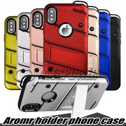 Wholesale Note Stylus - For Samsung Note 8 S8 Plus Hybrid Armor Case Soft TPU PC Kickstand Holder Phone Cover for IPhone X 8 7 plus LG Stylo Stylus 3 G6