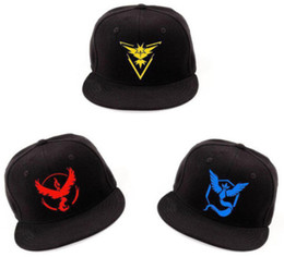 Wholesale Embroidered Brands Logo - 2016 Brand New Baseball Hat Team Mystic InstInct Valor Embroider Logo Trainer Cap Gift DHL Free Shipping