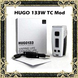 Wholesale Decorating Boxes - Original HUGO 133 PTC Box Mod E Cigarettes Dual 18650 Battery Mods 0.96'' OLED Screen Support PTC Mode Leather Decorated Surface
