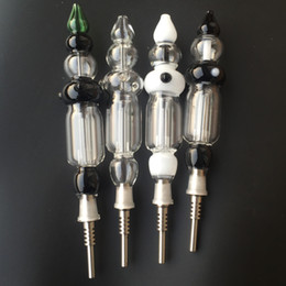 Wholesale Free Stocking Clips - In stock nectar collectors with glass bong and titanium nail nectar with free clip for honey straw glass water bongs