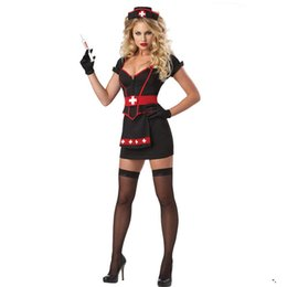 Wholesale Hot Nurse Uniform - Hot Porn Cosplay Nurse Uniform Temptation to nurse Sexy lingerie women costumes Sexy underwear Halloween Role play