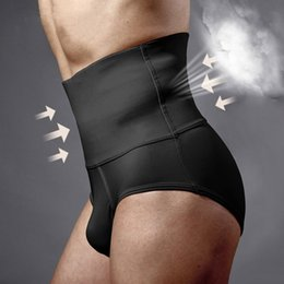 Wholesale Hot Underwear Men - Wholesale-Men's Shapers fajas reductoras Underwear Corset High Waist Training Corsets Hot Fat Burning Plastic Underwear male corset 1210R