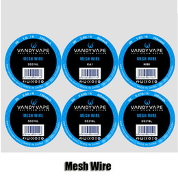 Wholesale Wholesale Wires - 100% Original Vandy Vape Mesh Wire Vandyvape KA1 80mesh 2.8ohm ft Ni80 100mesh 1.8ohm ft SS316L 150 200mesh For RDA Atomizer