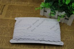Wholesale White Lace Trim Fabric - Free Shipping 100 yards  lot 15MM width white Gorgeous Cheap Lace Fabric Trim Ribbon DIY Garment Accessories L701-b