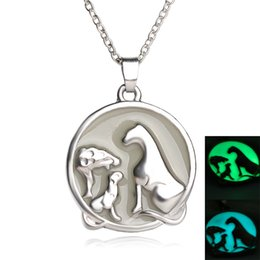 Wholesale Love Express - 2016 father's Day luminous two-color luminous pendant necklace for father love daday gift Love Express Gift zj-0903578