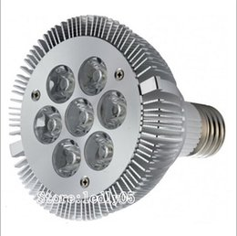 Wholesale E27 7x3w - Dimmable PAR30 LED Spotight 21 Watts led par30 lamps par 30 bulb 7X3W AC110V LED PAR30 Lights CE UL RoHs