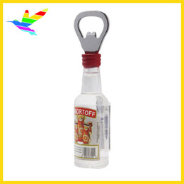 Wholesale Cheap Bags Wholesale China - China Best Cheap American Tourist Souvenir Beer Bottle Shaped Bottle Opener 90% Acrylic Material 40pcs lot Opp Bag Drop Shipping
