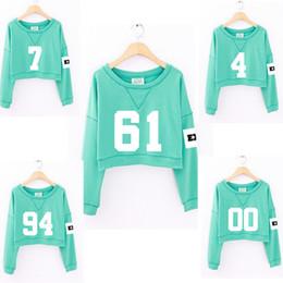 Wholesale Girls Album - Wholesale- 2016 new women kpop exo mint green summer short paragraph thin hooded fashion exo albums clothing girls long-sleeved sweatshirt