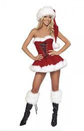 Canada Miss Santa Claus Costume Femmes Madame Père Noël Costume Déguisement Noel zl708 Offre