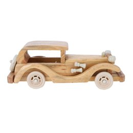 Wholesale Wood Craft Cars - Creative Retro Wooden Classic Car Model Children Toys Wood Puzzle Toy Car Crafts for Home Desk Decoration