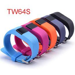 водонепроницаемый шагомер Скидка TW64S смарт-браслет с сердечного ритма трекер водонепроницаемый Bluetooth смарт часы спорт браслет Фитнес Smartband шагомер DHL бесплатно OTH229