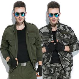 2019 armee kleidung großhandel Großhandels-FREEKNight Frühling Windproof Jacke Camouflage Jagd Kleidung Werkzeuge Wandern tragen Armee Fan Jacke Jaqueta Masculina rabatt armee kleidung großhandel