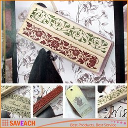 Wholesale Stamping Scrapbook - Beautiful Design The Best Price Wooden Rubber Flower Lace Stamp Floral Seal Scrapbook Handwrite Wedding Craft For Decoration