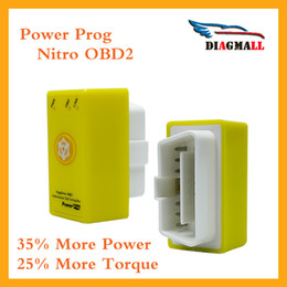Wholesale Chevrolet Opel - The Yellow Power Prog Better Than Nitro OBD2 Chip Tuning Box Plug And Drive NitroOBD2 With Reset Button