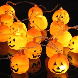 Wholesale Pumpkins Jack O Lanterns - Halloween 3D Jack-O-Lantern Pumpkin String Lights 16 LED 3.5M holiday decoration Lights For Indoor Outdoor,Festival,Party Decor