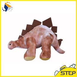 Wholesale Animal World Toys - Free Shipping 10pcs lot 16Inch Giant Dinosaur Plush Animal Toy Soft Stegoceras Doll for World Park Home Decor ST398