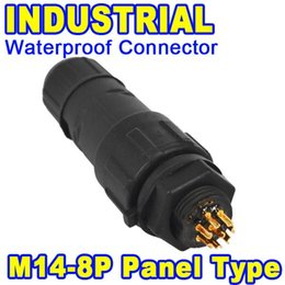 Wholesale Industrial Plug Connector - 5pcs 8 Pole 8 Pin IP68 Waterproof Connector 8Pin Industrial Panel Electrical Wire Connector Plug Adapter