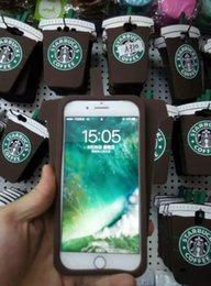 Wholesale 3d Galaxy S3 Case - 3D Starbucks Coffee Soft Silicone GEL Case For Iphone 7 Plus 6 6S 5S Samsung Galaxy Grand Prime G530 E7 E5 S6 S5 S4 S3 Skin Simulation Cover