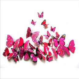 Nueva caliente Purple Butterfly simulación Refrigerador Frigorífico al por mayor 12 / set of dream butterfly STICKERS ENVÍO GRATIS desde fabricantes