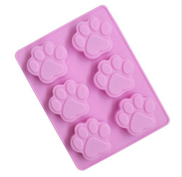 Wholesale Silicon Baking Moulds - The Silicone Cake Mould soap Mold Baking Mould Cat Paw Silicon Molds Cake Decorating tools kitchen tool accessories best