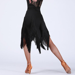 Wholesale Ladies Latin Dance Skirts - Newest fashion high quality tassel Latin dance short skirt for adult women female girl lady, Costume bottom performance wear