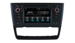 Wholesale Radio Tracks - car stereo Android 7.1 CAR DVD For BMW 1 E81 E82 E88 radio Reversing Track function For car automaticl air-conditioner
