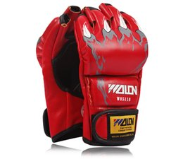 Wholesale Ball Extension - Wholesale-Hot Selling !! ! MMA boxing gloves   extension wrist leather   MMA half fighting Boxing Gloves Competition Training Gloves