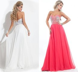 Wholesale Watermelon Sweetheart Sequin Prom Dress - Sheer 2017 Evening Dresses Sweetheart Beaded Sequins Colorful Beading Prom Gowns for Women Formal Dress Watermelon Red Custom Made Cheap New