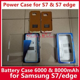 Wholesale External Backup Charger Case Pack - External Battery Case Rechargable Battery Cases for S7 6000mAh Portable Backup Charger Cases Power Bank Case Pack for Samsung S7 In Stock