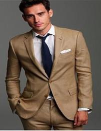 Wholesale Modern Suits For Men - Wholesale-2016High Quality Modern Beige Wedding Suits For Men Groom Wedding Suit Groomsmen (Jacket+Pants)