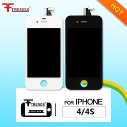 Wholesale Lcd Iphone 4s Black - for iPhone 4  4 CDMA   4S LCD Display & Touch Screen Digitizer Full Assembly with Earpiece Anti-Dust Mesh Free Installed Black White DHL