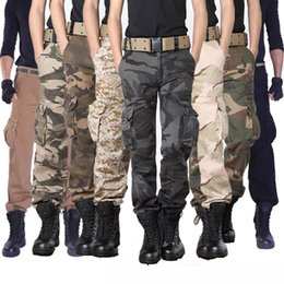 Wholesale Cotton Polyester Pants Men - mens cargo pants Men's Series Polyester Cotton Pants Mens Casual Military Army Cargo Work Cargo Pants Relaxed Fit MANY SIZES Trousers
