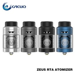 Wholesale Tank Leak - GeekVape Zeus RTA Atomizer 4ml Velocity Style Dual-pole Design Leak Proof rta Tank with 3D Airflow 100% Original ecig tank