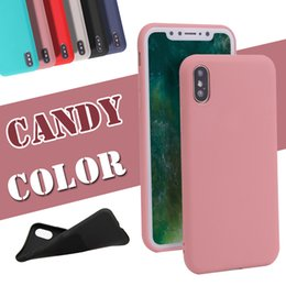 Wholesale Apple Matting - For iPhone X Case Ultra Thin Jelly Candy Solid Color Matting Polish Grinding TPU Cover For iPhone 8 Plus 7 6 6s Samsung Note 8 S8 S7 Edge