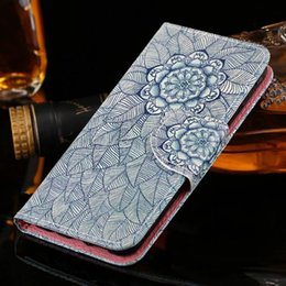 Wholesale Iphone Flower Flip Case - For iphone 7 7plus 6 6S Plus flower Leather Wallet Credit Card Holder Stand Case Cover for iphone 5S flip cover