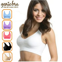 Wholesale D Pads - Wholesale- Genie Bra with retail box - 3pcs set - have Removable Pads - Epacket free shipping
