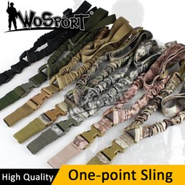 Wholesale Sling System - New Tactical Point Sling Adjustable Nylon Single High Quality Bungee Rifle Gun Sling System Strap Portable Rope