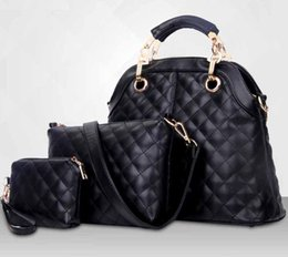 Wholesale Buy Dress Bags - Hot in winter in 2015 the latest European and American diamond lattice pattern handbag simple picture - bag lady handbag to buy two