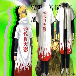Wholesale Naruto Minato Cosplay - Hot Naruto 4th Yondaime Namikaze Minato Hokage Cosplay Costume For Halloween Party Full Set with Trench