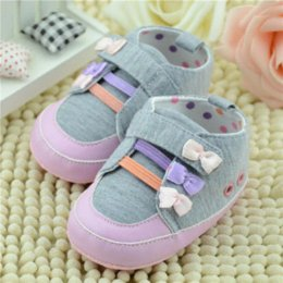 Wholesale Baby Girl Pre Walker Shoes - Free Shipping Gary Soft Baby Shoes Newborn Boy Girl Crib Shoes Toddler Lace Up Loafer Pre walker Shoes