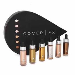 fx deckt Rabatt Cover FX Custom Enhancer Tropfen Gesicht Textmarker Puder Makeup Glow 6 Farbe 15ml flüssige Textmarker