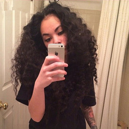 Wholesale Brazillian Human Hair Lace Wigs - 9A Best Lace Front Human Hair Wigs Glueless Full Lace Wig 100% Brazillian Hair Deep Wave Curly Wigs Middle Parting For Black Women
